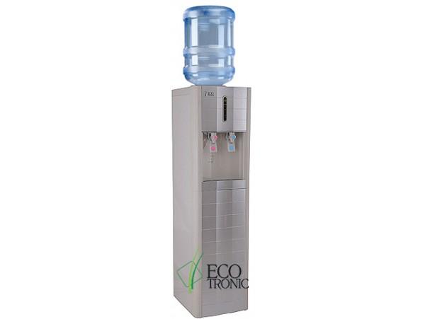 Кулер для воды напольный с компрессорным охлаждением Ecotronic V4-LZ white-silver