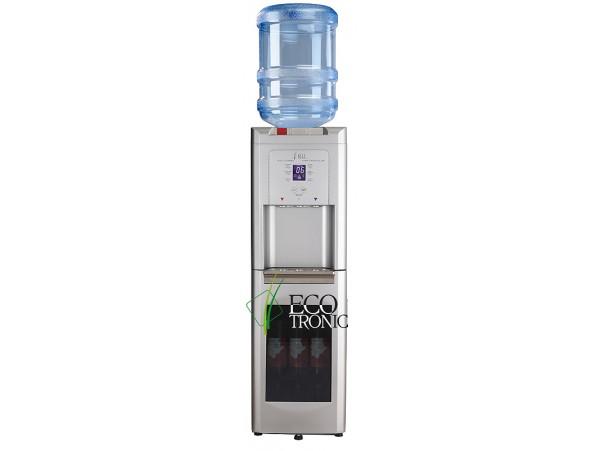 Кулер для воды напольный с холодильником Ecotronic C15-LZ с винным шкафчиком