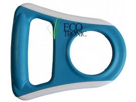 Ручка для бутылей Ecotronic обрезиненная голубая плоская