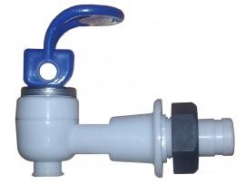 Кран холодной воды с гайкой (верхний нажим)